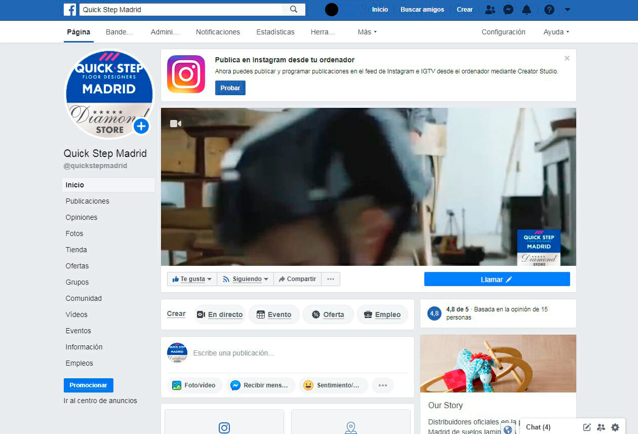 Redes Sociales Quick Step Madrid