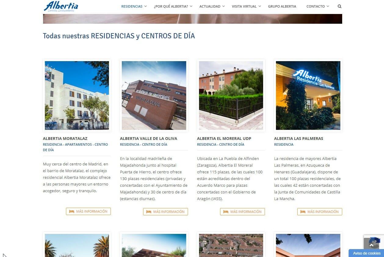 Desarrollo web Residencias Albertia