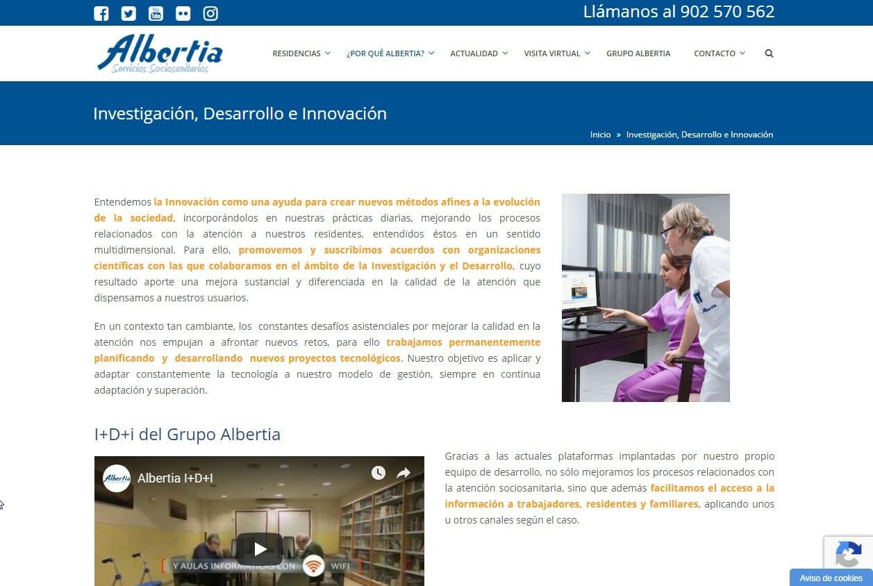 Albertia Mantenimiento Web